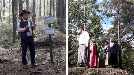 Dramatiserad guidning i Trollkäringeskogen
