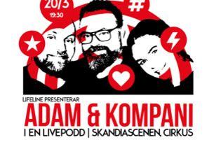 Adam & Kompani en livepodd