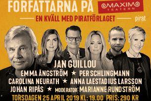 Författarna på Maxim - En kväll med Piratförlaget