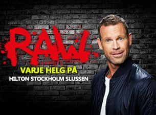RAW comedy club med bl. a. Nisse Hallberg