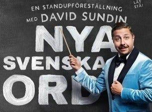 Nya Svenska Ord - En humorföreställning med David Sundin
