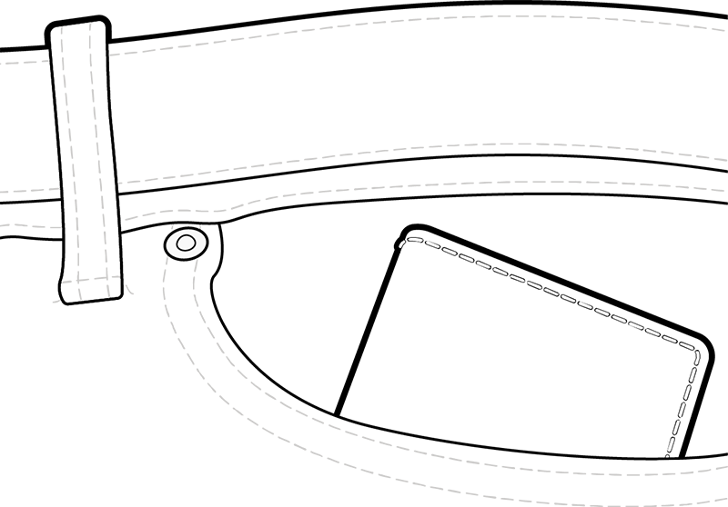Carry the compact Secrid wallet in your front pocket.