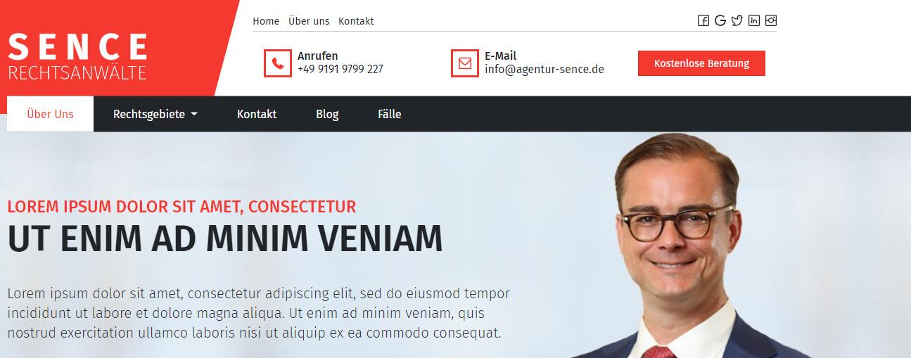 SEO-Website Struktur Beispiel