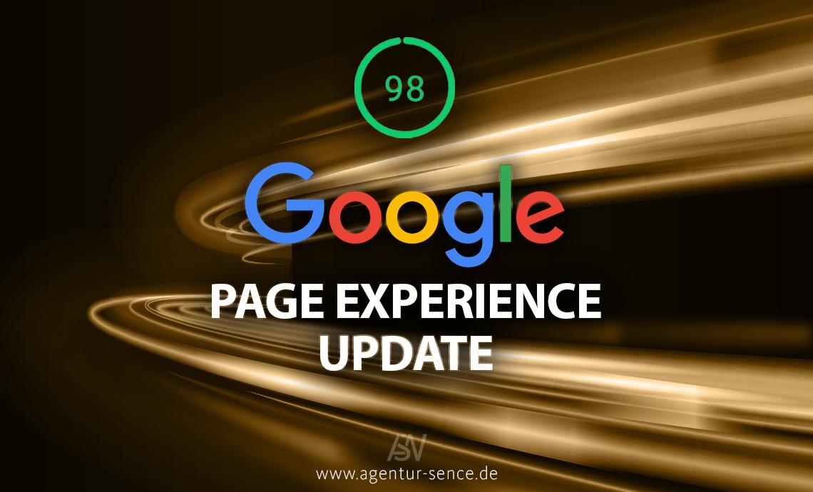 Das Page Experience Update von Google - keine Rankings verlieren!