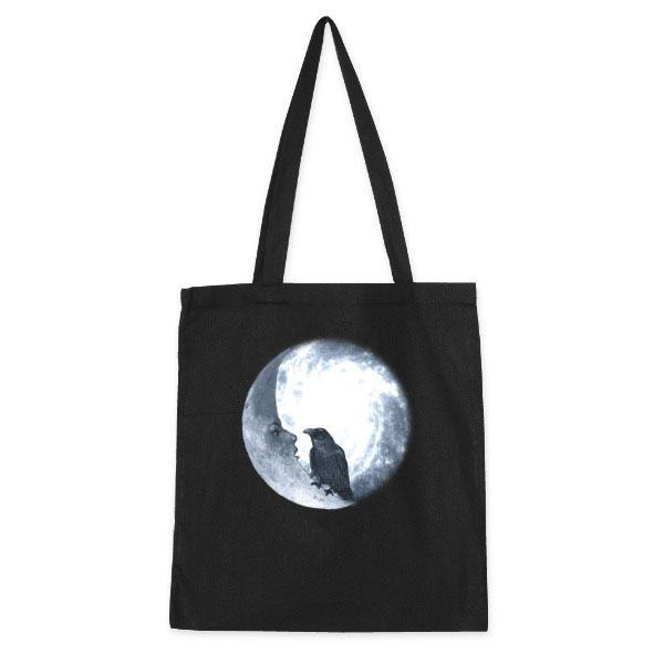 Bolso de tela 'Crow and its moon' por Barruf