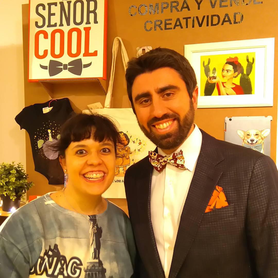 Illuscrazyon con Señor Cool en Ilustrísima