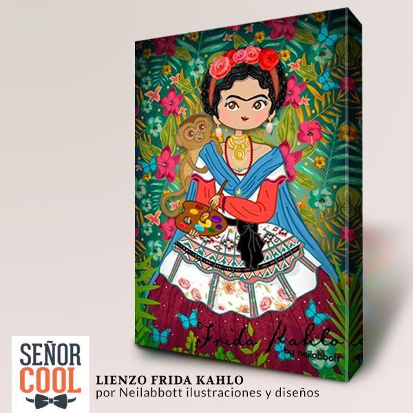 Lienzo Frida Kahlo por Neilabbott