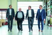 Schubert's corporate management: Marcel Kiessling, Managing Director Sales and Service, Gerhard Schubert, Founder and Managing Partner, Ralf Schubert, Managing Partner, Peter Gabriel, Commercial Managing Director. (Image: Schubert)
