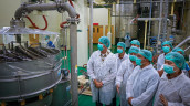 Factory visit scene at Barry Callebaut's factory opening in Rancaekek/Indonesia.