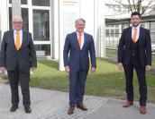 Thomas Handtmann, Mark Marrink und Harald Suchanka (v. l.). (Bild: Handtmann)