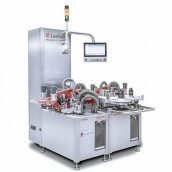 The modular serialization platform Modular X enables fully automated refitting in under 60 s. (Image: Laetus)