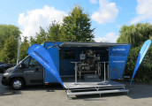 The Multivac truck covered around 12,000 km travelling throughout Germany, Austria and Switzerland. (Image: Multivac)