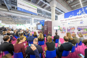 Das Industry Insights Theatre auf der Messe Fi Europe 2017.