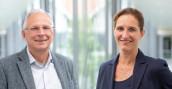 Der scheidende Institutsleiter, Prof. Dr. Horst-Christian Langowski, und seine Nachfolgerin, Prof. Dr. Andrea Büttner. Foto: Fraunhofer IVV
