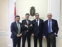 (From left:) Stojan Kemera (General Manager South-eastern Europe), Antoine de Saint-Affrique (CEO), Goran Knezević (Minister of Economy, Serbia), Massimo Garavaglia (Regional President EMEA).