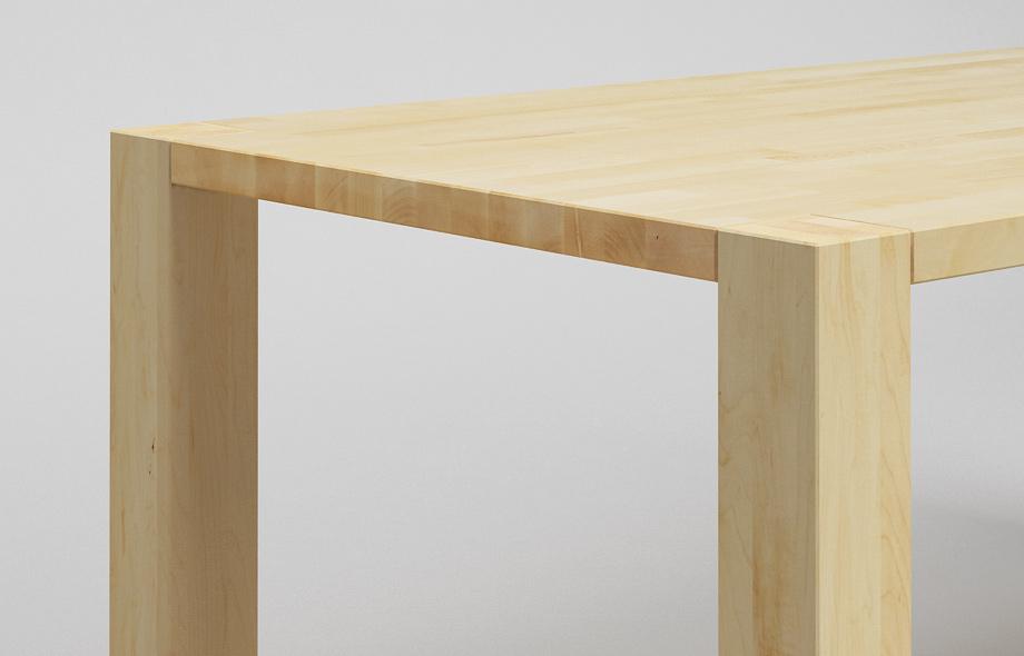 et03 esstisch ahorn massiv zargenlos ma gefertigt von. Black Bedroom Furniture Sets. Home Design Ideas
