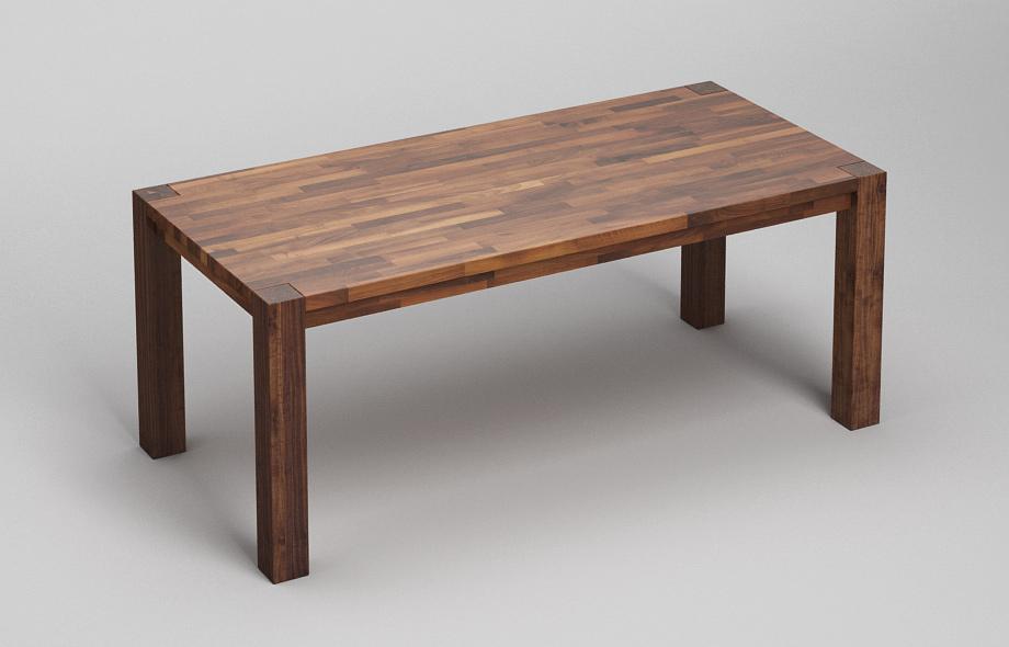 et13 esstisch aus massivem nussbaum von frohraum. Black Bedroom Furniture Sets. Home Design Ideas