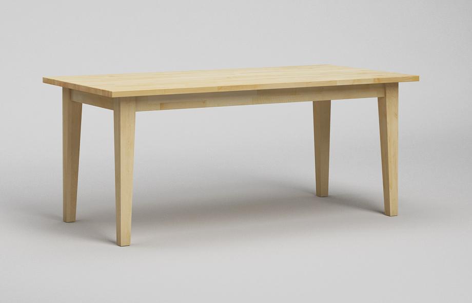 et21 esstisch ahorn massiv klassischer zargentisch von. Black Bedroom Furniture Sets. Home Design Ideas