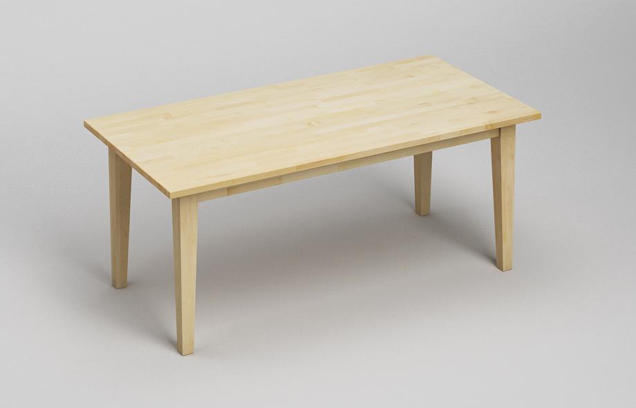 Tisch Zargenlos ~ Esstisch Massivholz Ahorn Verarbeitung massivholz kgl dgl
