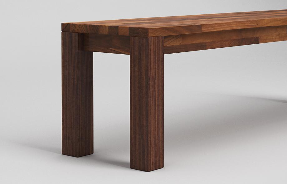 sb10 sitzbank aus nussbaum massiv von frohraum. Black Bedroom Furniture Sets. Home Design Ideas