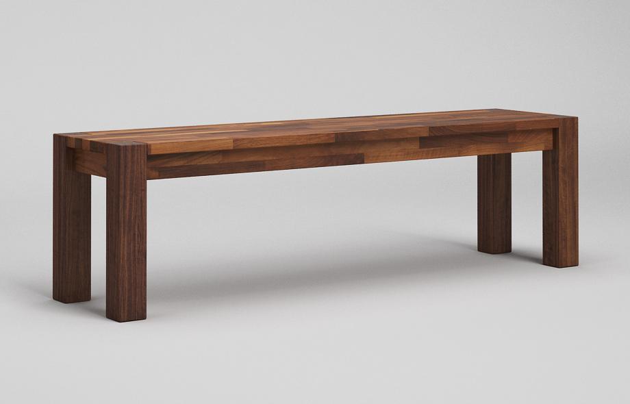 sb13 sitzbank aus nussbaum massiv von frohraum. Black Bedroom Furniture Sets. Home Design Ideas