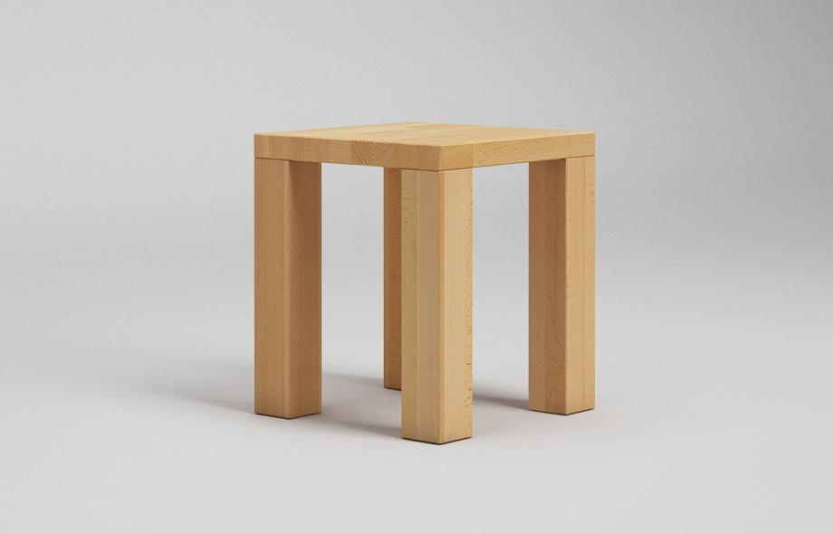 h01 hocker zargenlos in 7 holzarten von frohraum. Black Bedroom Furniture Sets. Home Design Ideas