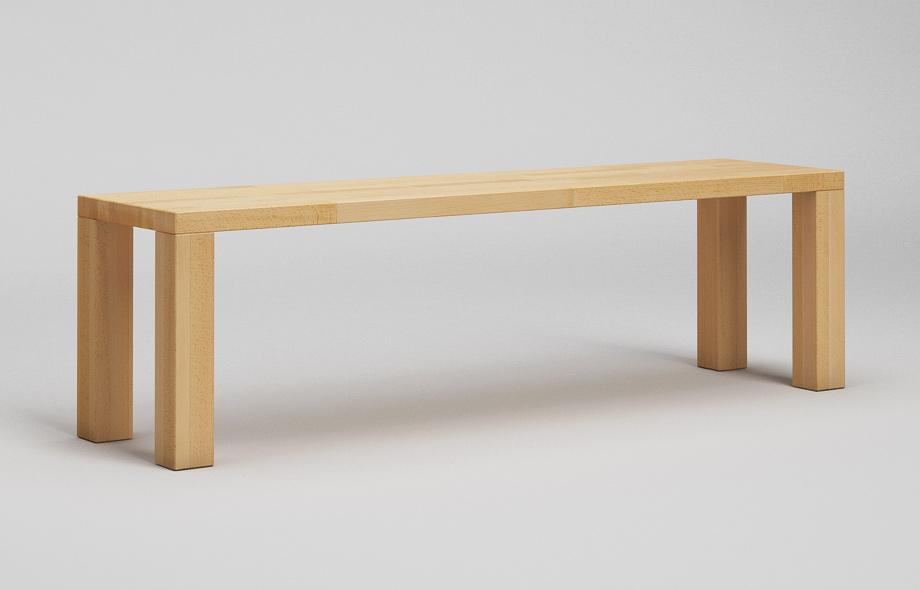 sb01 sitzbank zargenlos aus buche massiv von frohraum. Black Bedroom Furniture Sets. Home Design Ideas