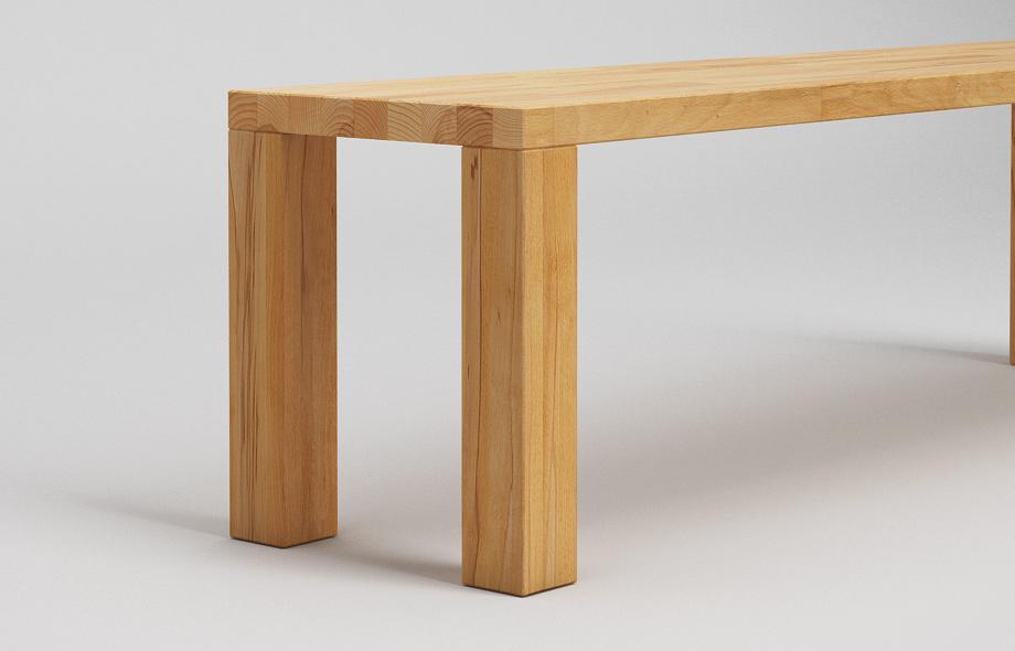 sb01 sitzbank zargenlos aus kernbuche massiv von frohraum. Black Bedroom Furniture Sets. Home Design Ideas