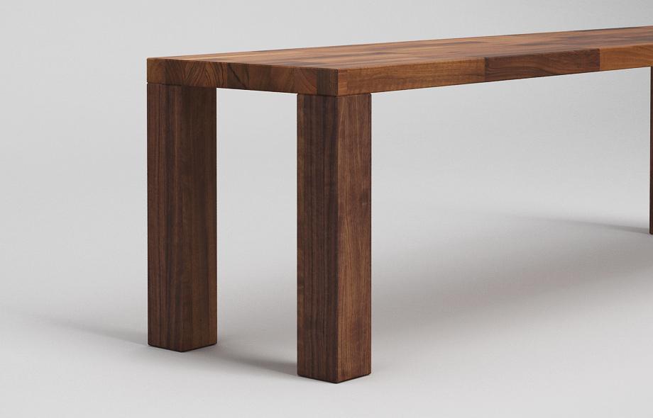 sb01 sitzbank zargenlos aus nussbaum massiv von frohraum. Black Bedroom Furniture Sets. Home Design Ideas