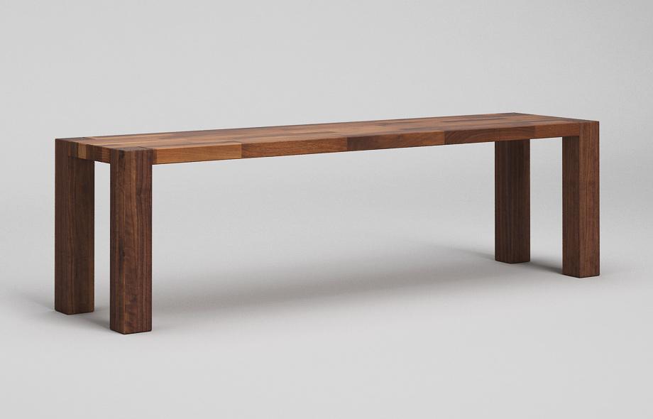 sb03 sitzbank zargenlos aus nussbaum massiv von frohraum. Black Bedroom Furniture Sets. Home Design Ideas