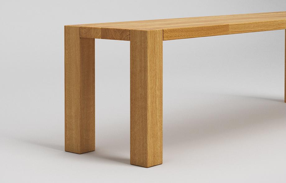 sb03 sitzbank zargenlos aus eiche massiv von frohraum. Black Bedroom Furniture Sets. Home Design Ideas