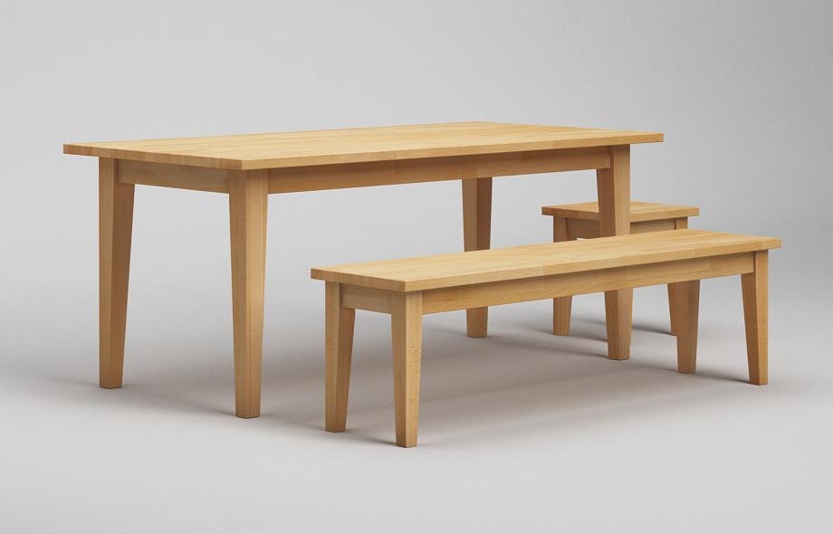 Sb21 klassische sitzbank aus massivholz von frohraum for Esstisch massiv buche