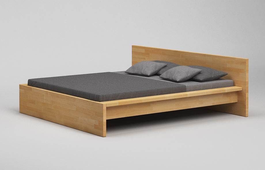 b31 bett aus massivholz kufenbett mit hohem kopfteil von frohraum. Black Bedroom Furniture Sets. Home Design Ideas