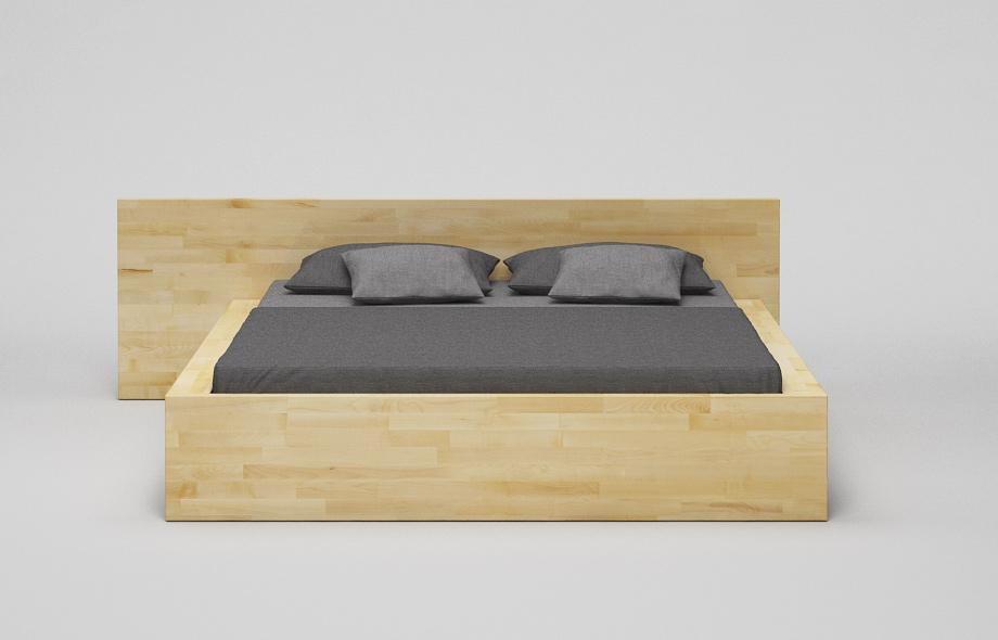 b31 bett ahorn massiv kufenbett mit hohem kopfteil von frohraum. Black Bedroom Furniture Sets. Home Design Ideas