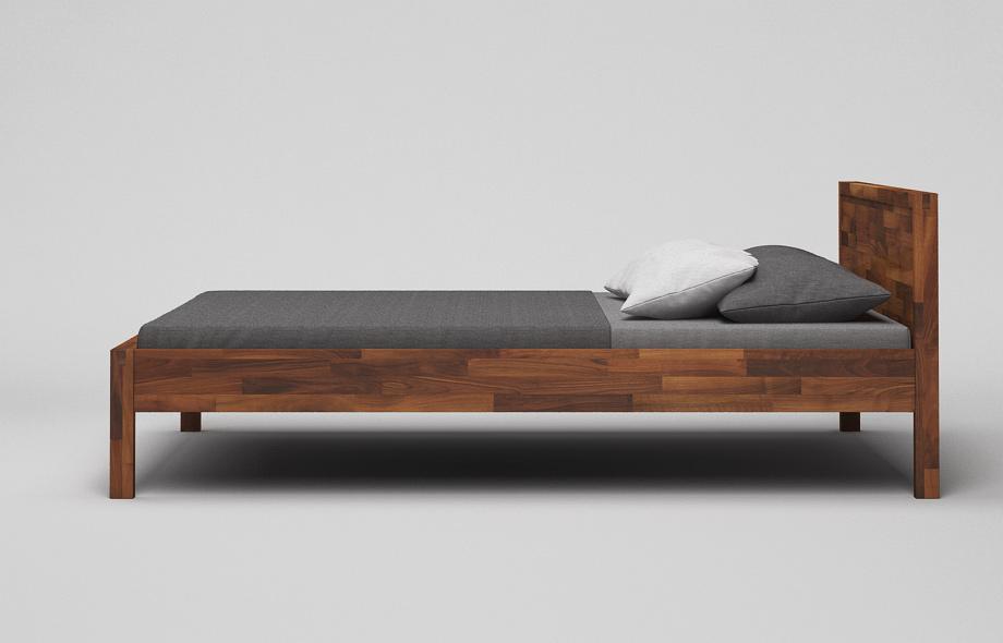 b41 bett nussbaum massiv massivholzbett mit kopfteil von frohraum. Black Bedroom Furniture Sets. Home Design Ideas
