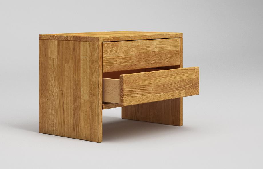 nt02 nachttisch aus eiche massiv von frohraum. Black Bedroom Furniture Sets. Home Design Ideas