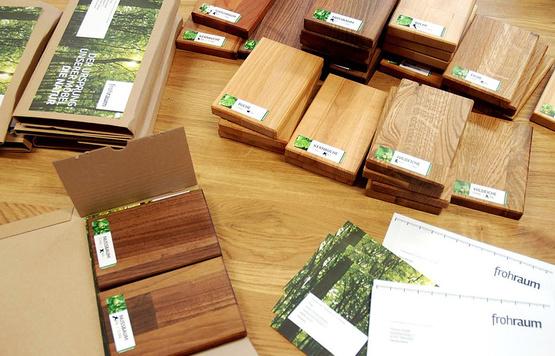 Holzproben Fächer