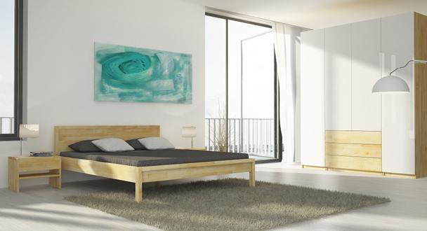 608 300 Schlafzimmer Ahorn Kgl Massiv Bett B41