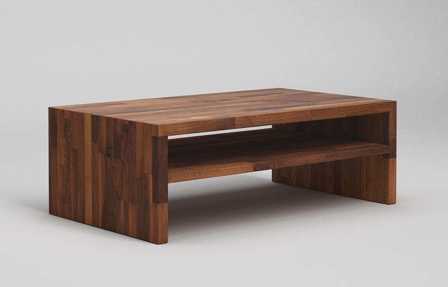 ct30 couchtisch nussbaum massiv auf gehrung verleimt mit zwischenablage von frohraum. Black Bedroom Furniture Sets. Home Design Ideas