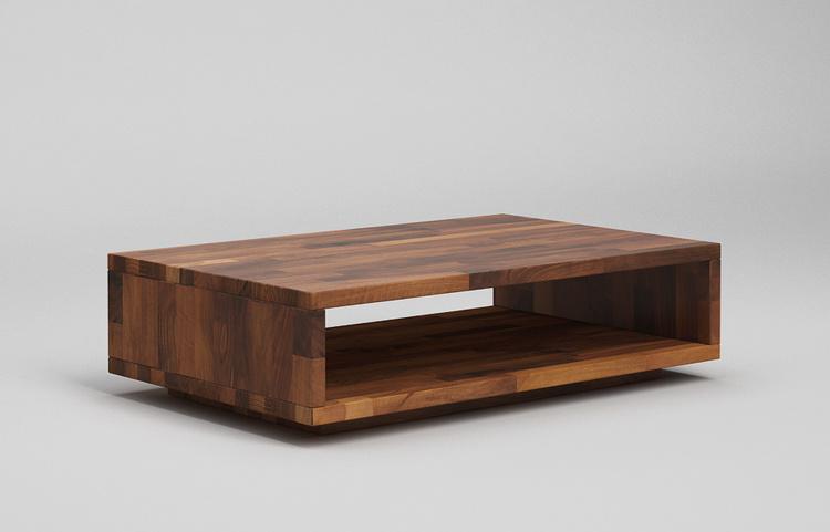 ct40 couchtisch in schwebeoptik aus nussbaum massiv. Black Bedroom Furniture Sets. Home Design Ideas