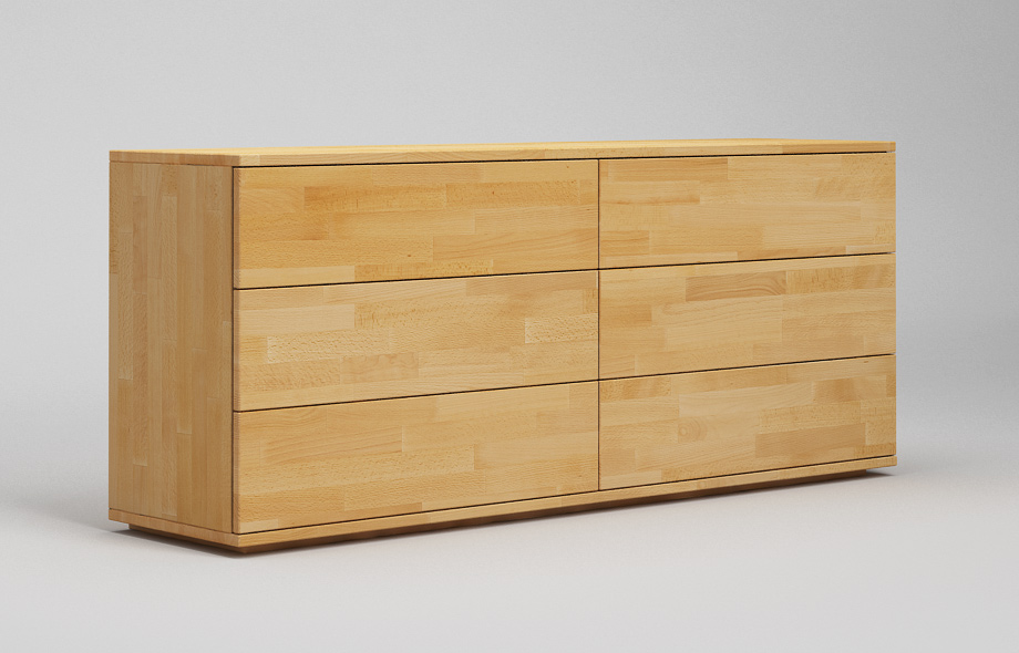 s102 sideboard massiv 2 spaltig mit sockel. Black Bedroom Furniture Sets. Home Design Ideas
