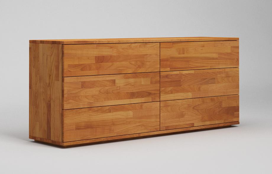 S102 sideboard kirschbaum massiv zweispaltig in for Sideboard kirschbaum