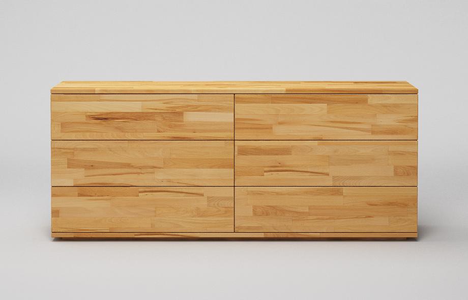 S102 sideboard kernbuche massiv zweispaltig in for Sideboard kernbuche