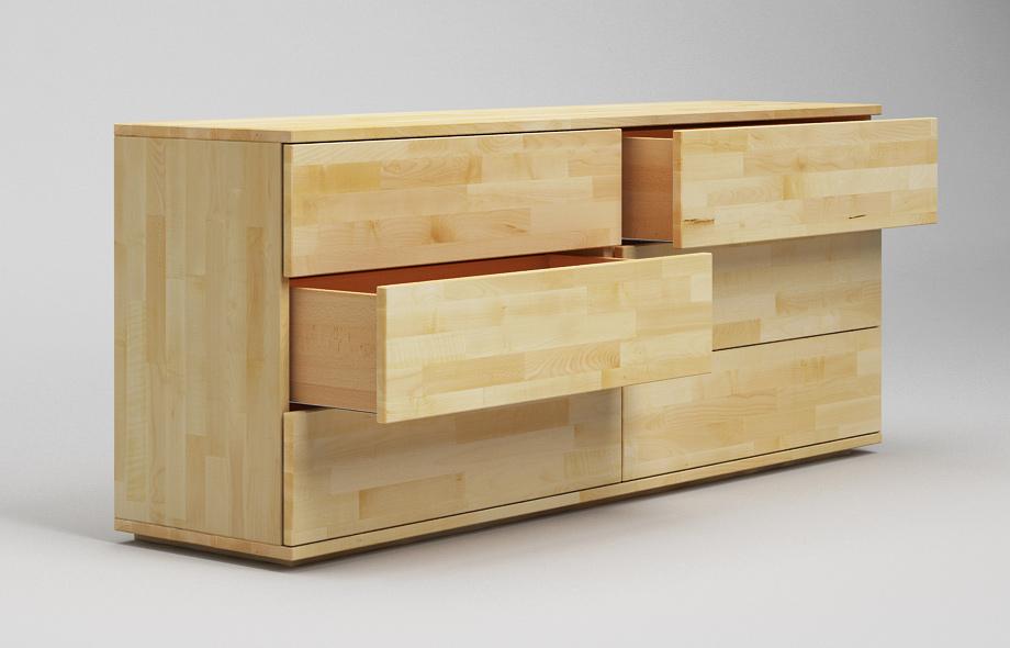 s102 sideboard ahorn massiv zweispaltig in schwebeoptik von frohraum. Black Bedroom Furniture Sets. Home Design Ideas