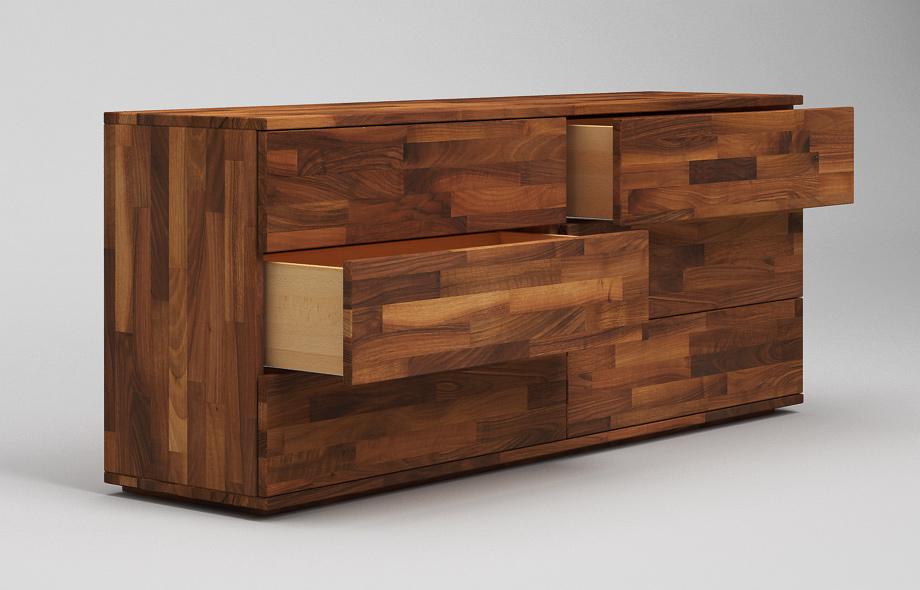 s102 schwebendes sideboard aus nussbaum massiv von frohraum. Black Bedroom Furniture Sets. Home Design Ideas