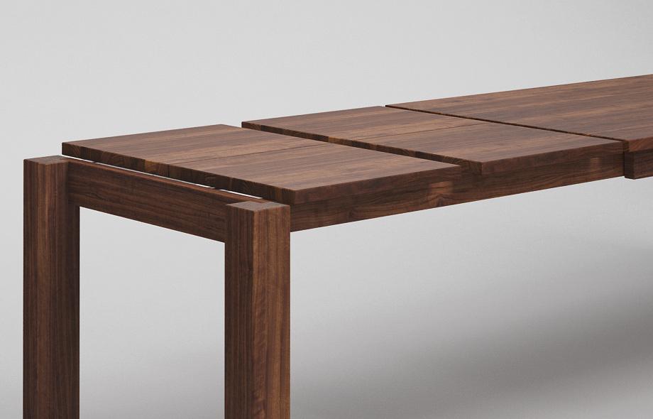 et10 ka ausziehtisch aus nussbaum massiv nach ma von. Black Bedroom Furniture Sets. Home Design Ideas