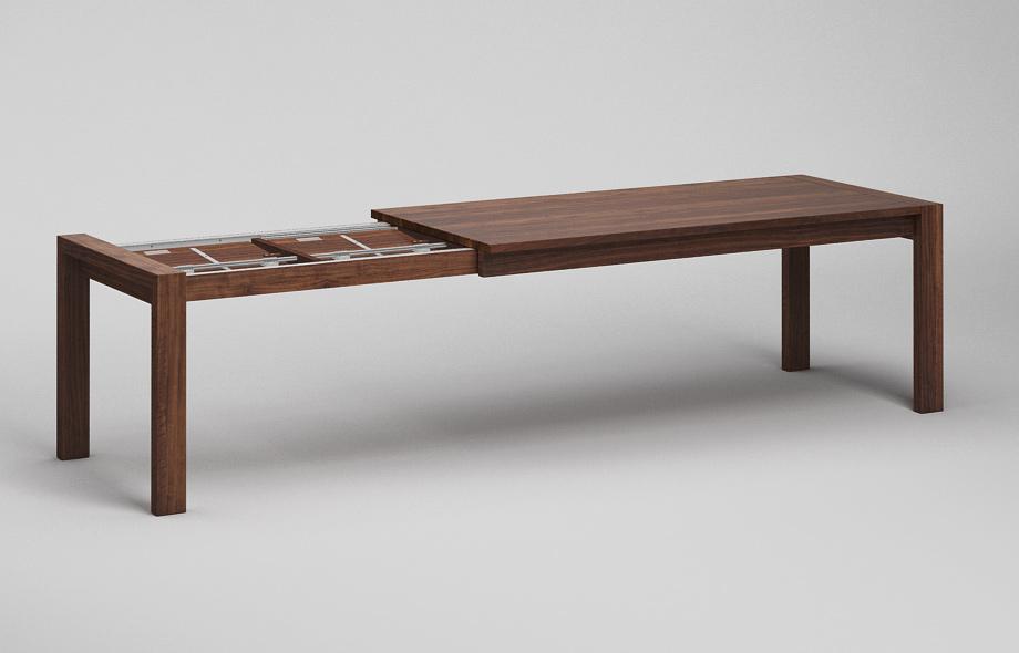 et50 ka ausziehtisch aus nussbaum massiv nach ma von frohraum. Black Bedroom Furniture Sets. Home Design Ideas