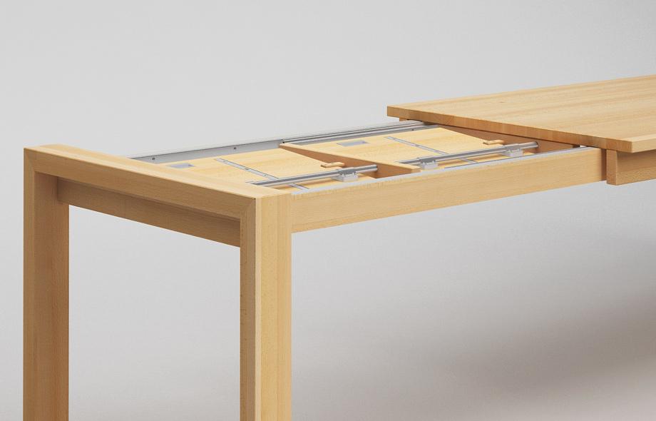 ET50-KA ausziehbarer Massivholz-Esstisch von Frohraum