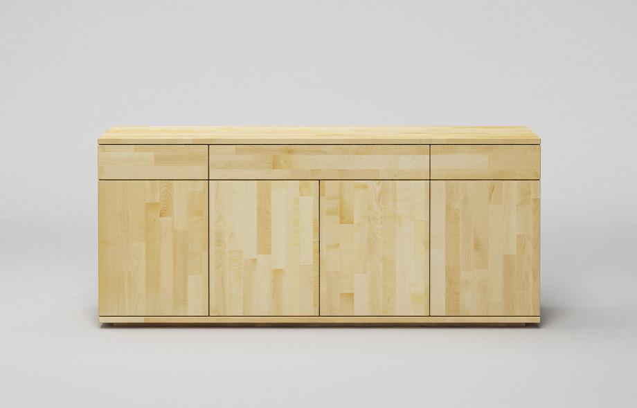 s103 sideboard ahorn massiv dreispaltig in schwebeoptik von frohraum. Black Bedroom Furniture Sets. Home Design Ideas