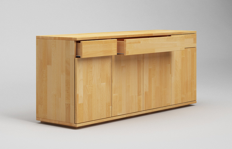 s103 sideboard buche massiv dreispaltig in schwebeoptik von frohraum. Black Bedroom Furniture Sets. Home Design Ideas